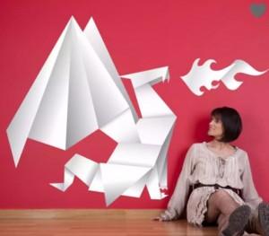 vinilo-decorativo-dragon-de-origami