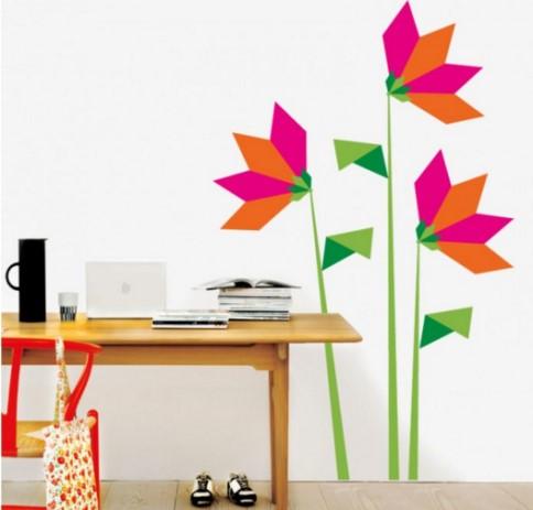 vinilo-decorativo-flores-de-origami