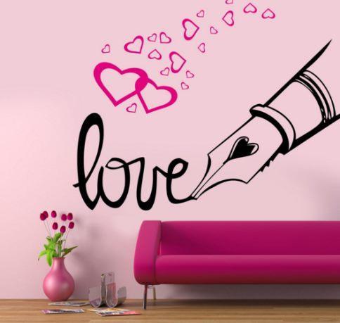 Vinilo decorativo san valentin love vinilos decorativos for Decoracion de pared para san valentin