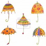 ¡¡Preciosos paraguas para la decoracion del cuarto de la niña!!