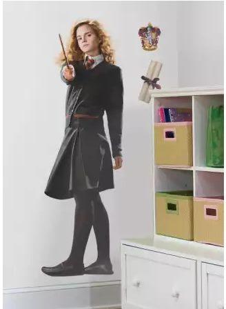Hermione desafiante en tu pared vinilos decorativos Vinilos pared harry potter