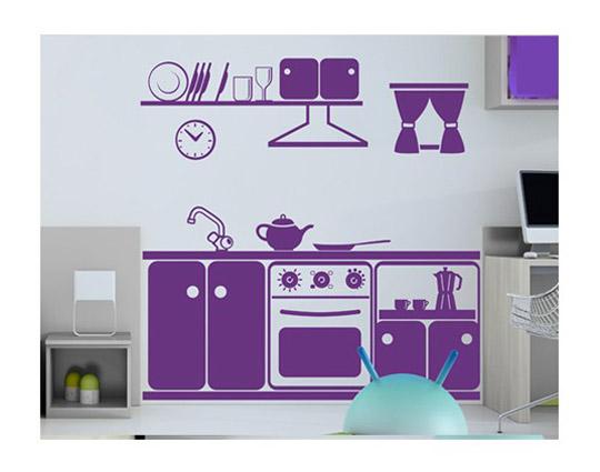 Vinilo de cocina para los m s peque os jugar a ser mam for Vinilos pared cocina