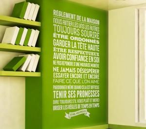 Vinilos decorativos en francés