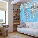 Vinilo mapamundi, para intelectuales y curiosos