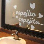 Espejito, espejito, para decorar el baño