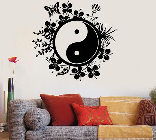 Vinilo del ying y yang armoniza tu hogar vinilos decorativos for Vinilos decorativos hogar
