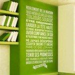 Las reglas de la casa, a la vista y en francés