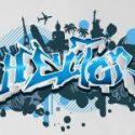 Vinilo graffiti con el nombre de la persona