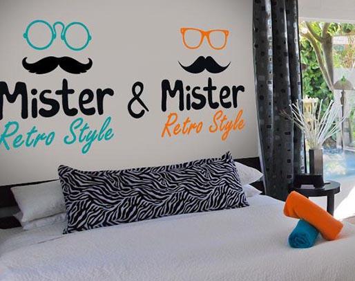 Vinilos decorativos gay Mister and Mister