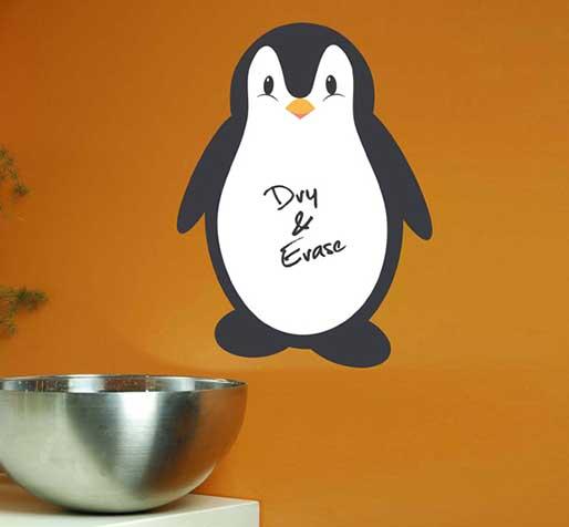 vinilo-pizarra-pinguino