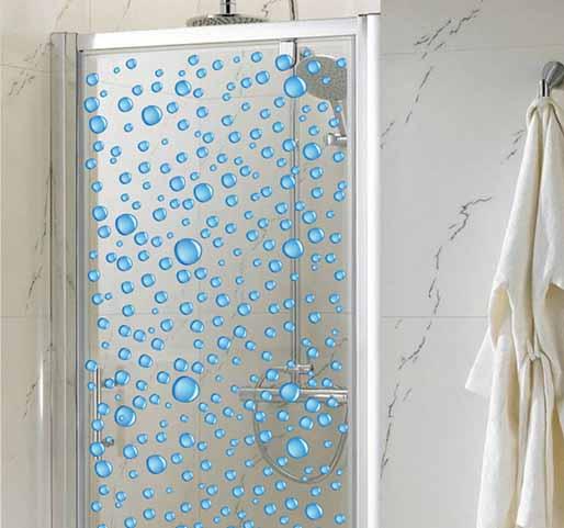 Gotas de vinilo para la mampara de la ducha vinilos - Vinilos para duchas ...