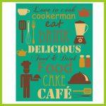 Simpático y colorido cartel vinílico para la cocina