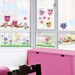 Búhos en vinilos decorativos para ventanas