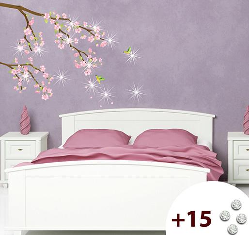 Cerezo en flor japonismo en casa vinilos decorativos for Vinilo para dormitorio adultos