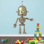 Vinilo de robot, simpática decoración infantil
