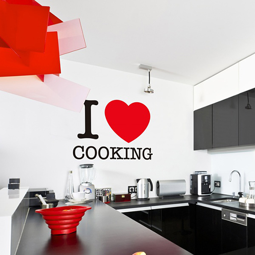 I love cooking vinilos decorativos for Vinilos pared barcelona